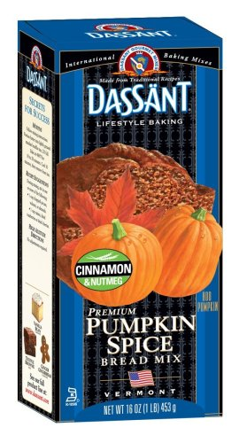 Dassant Pumpkin Spice Bread Mix, 16-Ounce Boxes (Pack of 6)