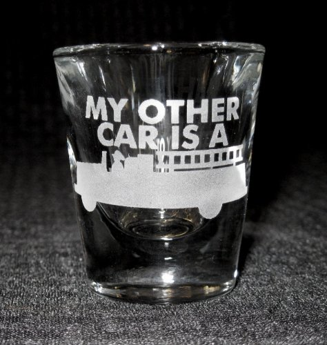Standard Etched Shot Glass Firefighter My Other Car Is A Firetruck