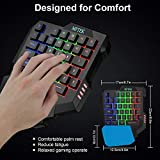 MFTEK One Hand Gaming Keyboard and Mouse Combo, RGB