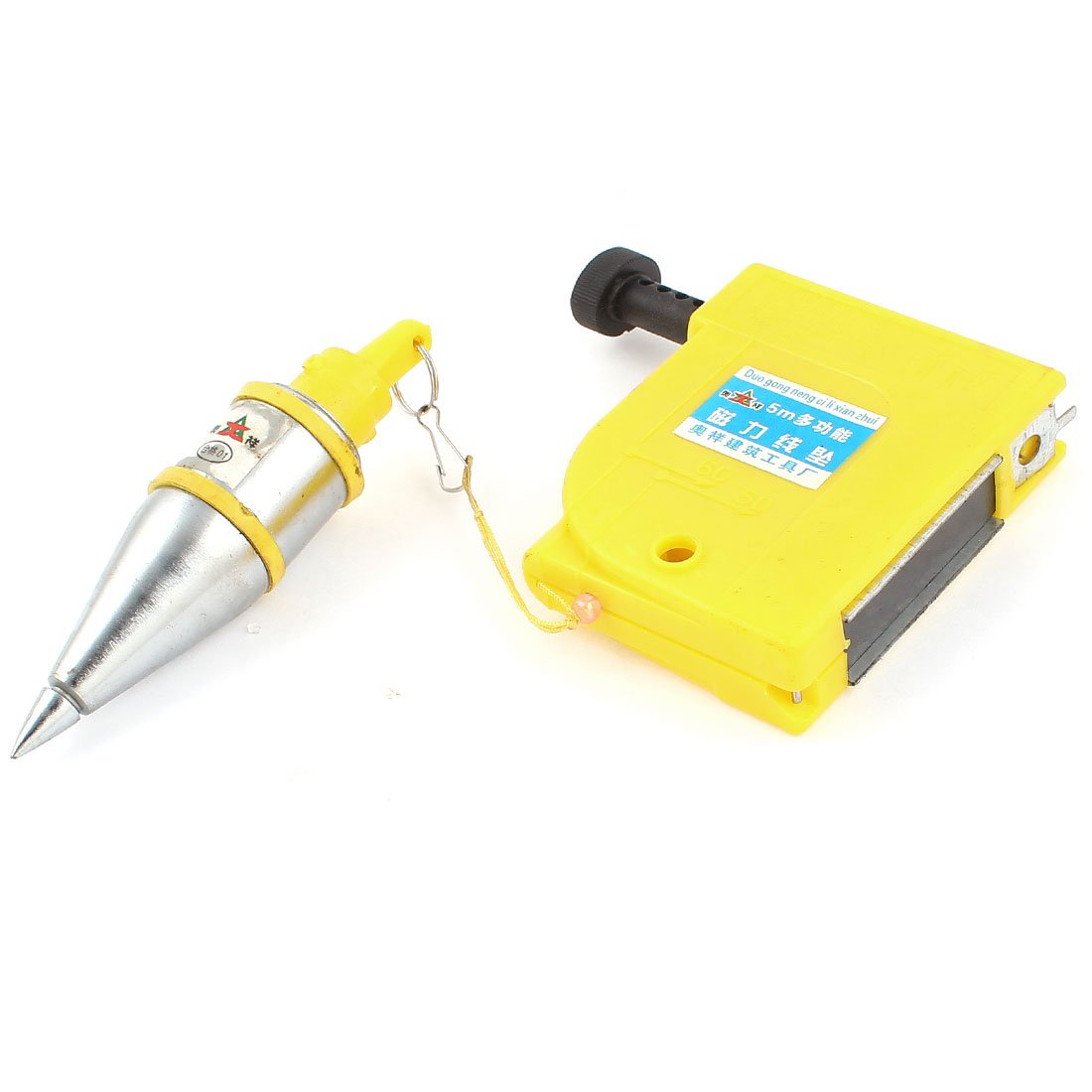 Uxcell a14091200ux0042 Magnetic 400g Plumb Bob Straight Level Setter Test Device 5 Meters