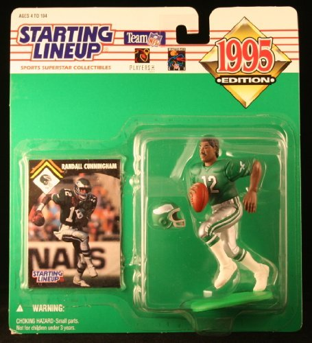 Starting Lineup Randall Cunningham / Philadelphia Eagles 1995 NFL Action Figure & Exclusive NFL Collector Trading Card