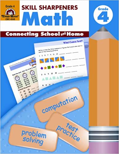 Amazon.com: Skill Sharpeners Math, Grade 4 (0023472045485): Evan ...