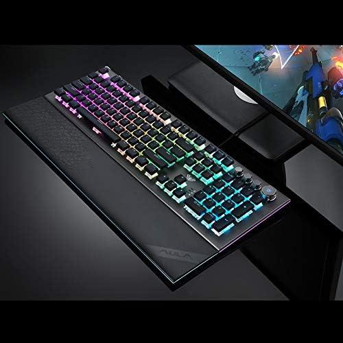 HUOGUOYIN Gaming Keyboard Game keypad Backlight Blue Switch programmable Multimedia Control for PC Laptop Keyboard