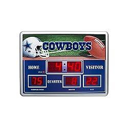 NFL Dallas Cowboy Scoreboard Clock, Small, Multicolored
