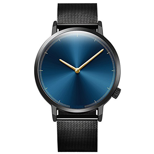 - Balakie Mens Wristwatch Minimalist Design Stainless Steel Mesh Band Analog Quartz Watch-A83 Lover Travel Gift(D)