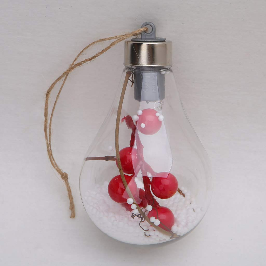 Amazon.com: Yuayan Christmas Tree LED Bulb Ball, Light Lamp Hanging Ornaments Party Outdoor Decor: Home & Kitchen