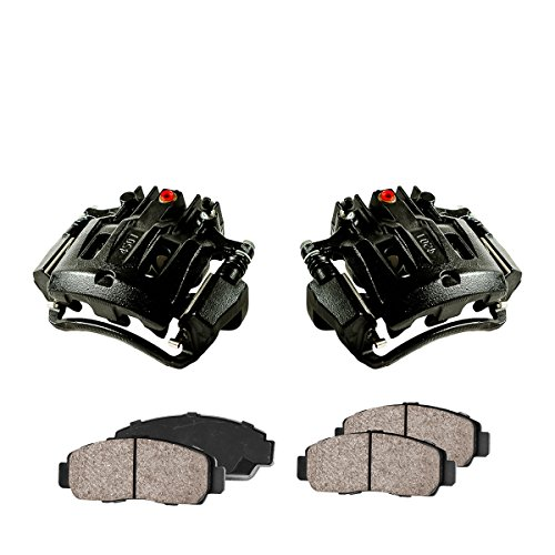 (CCK02399 [2] REAR Performance Black Powder Coated Calipers + [4] Quiet Low Dust Ceramic Brake Pads)