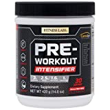 Fitness Labs Pre-Workout Intensifier with 3g L-Citrulline, 2.5g Betaine, 1.6g Beta-Alanine, 1g Arginine AKG, B Vitamins, Electrolytes and more, 30 Servings (Natural Fruit Punch)