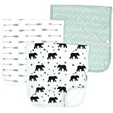 Baby Burp Cloth Large 21''x10'' Size Premium Absorbent Triple Layer 3 Pack Gift Set For...