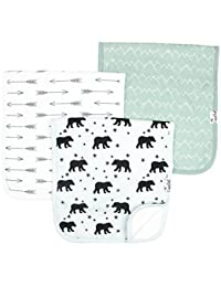 "Baby Burp Cloth Large 21''x10'' Size Premium Absorbent Triple Layer 3 Pack Gift Set For Boys ""Archer Set"" by Copper Pearl (Assorted Colors/Design) BOBEBE Online Baby Store From New York to Miami and Los Angeles"