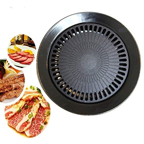 (Korean BBQ Stone Grill Stovetop Barbecue Steak Chicken Ribs Pork Belly Grill Pan)