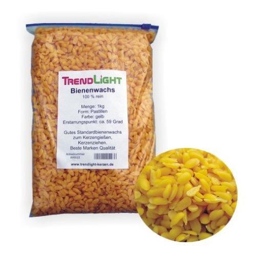TrendLight ® 890022 Pastilles 100% pure cire d'abeille pour fabriquer des bougies 1 kg