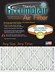 Accumulair Titanium 14x27x1 (Actual Size) High Efficiency Allergen Reduction Air Filter/Furnace Filter