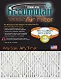 Accumulair Titanium 15x30x1 (14.5x29.5) High Efficiency Allergen Reduction Air Filter/Furnace Filter