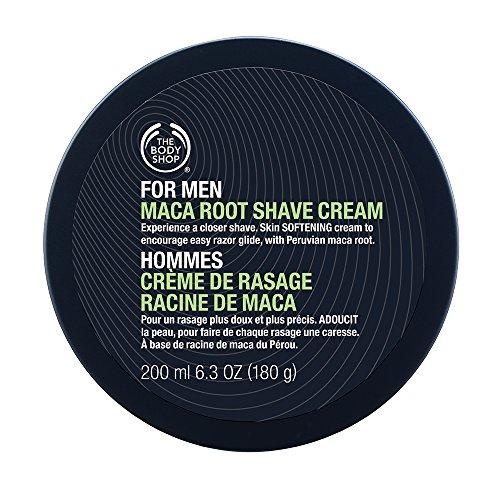 The Body Shop para hombres Maca raíz afeitado crema Regular, 6,3 onzas líquidas