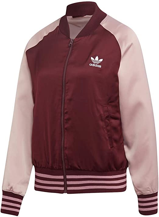 Subir reserva profundamente  adidas Originals womens Satin Bomber Jacket at Amazon Women's Clothing store