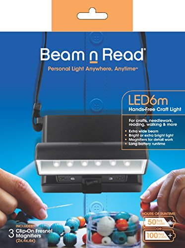 Beam n Read LED 6m Hands-Free Craft Light; Extra Wide & Extra Bright Light from 6 LEDs by Beam n Read
