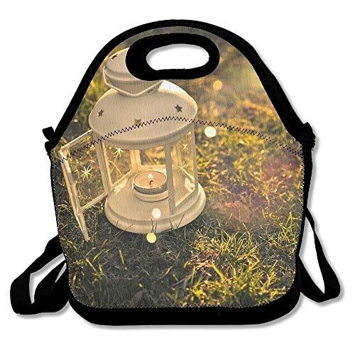 (Beautiful Firefly Lanterns Reusable Lunch Bag For Women Lunch Bag Box Food Bag Cool Neoprene Lunch Box For Women, Work School Picnic Bag)