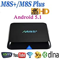 HONGYU M8S Plus M8S+ Amlogic S812 Quad Core Android 5.1 TV Box 2G RAM 8G ROM Bluetooth 4.0 Dual Band Wifi 2.4G/5G REALMEDIA Streaming Media Player