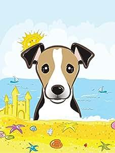 Caroline tesoros del bb2129gf Jack Russell Terrier verano playa bandera de Jardín, pequeño, multicolor