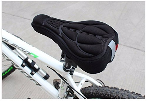 OUTERDO New Bike Bicycle 3D Silicone Gel Pad Seat Saddle Cov
