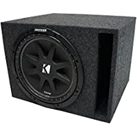 Universal Car Stereo Vented Port Single 15 Kicker Comp C15 Sub Box Enclosure - Final 4 Ohm