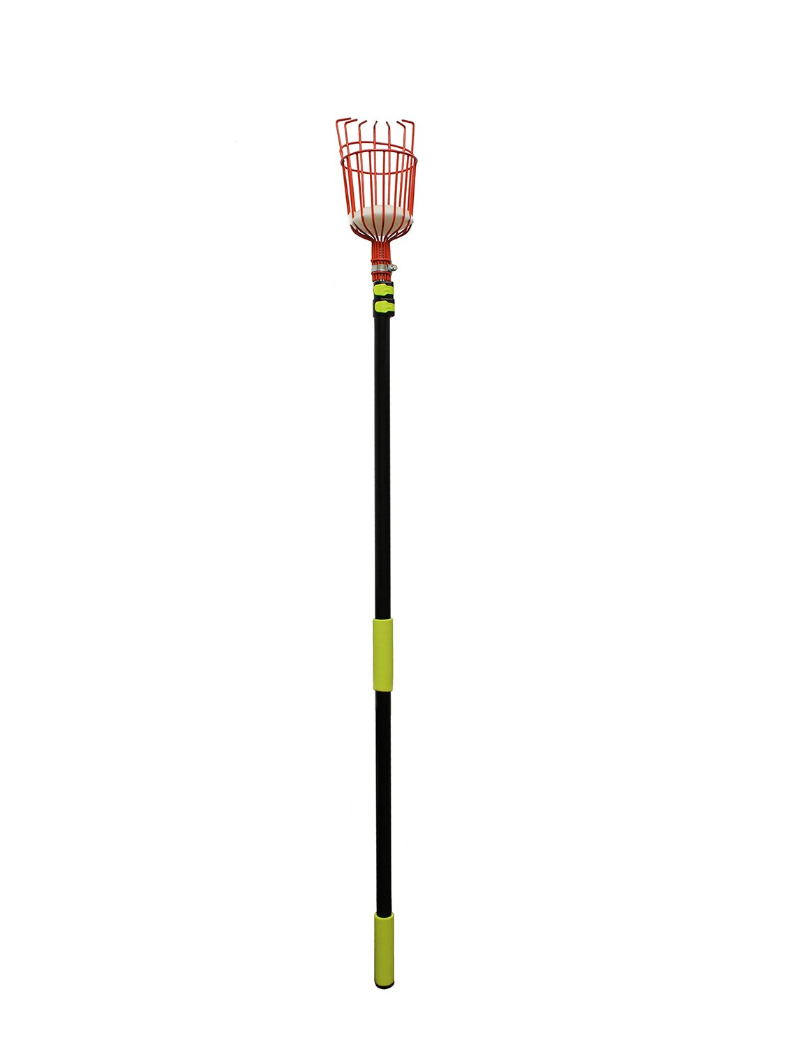 7Penn Apple Picking Fruit Tree Picker Tool with Metal Basket and Light Aluminum 4.5 to 13' Feet Telescoping Grabber Pole