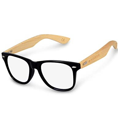 e774c000b8 Navaris Vintage Non Prescription Glasses - Vintage Optical Eyewear with  Clear Lenses for Men and Women