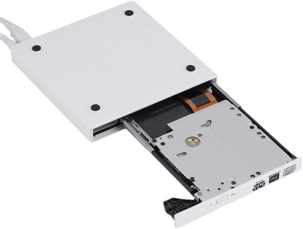 Mandalaa Black Super Slim USB 2.0 External Cd+-Rw DVD+-Rw DVD-Ram Burner Drive Writer for Laptop Pc E