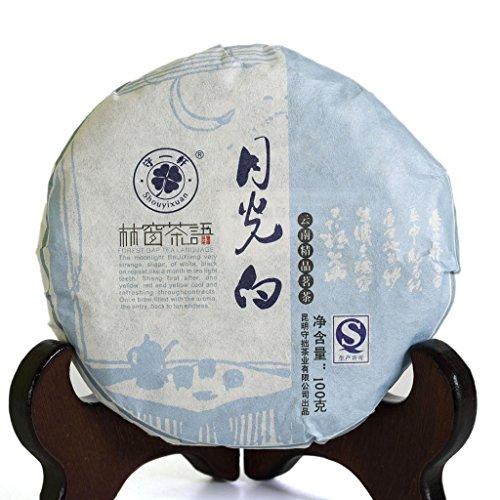 Pu Erh Tea Cake Sampler - 100g (3.52 Oz) 2015 Year Yunnan Organic Moonlight Beauty White Buds puer Pu'er Pu erh Tea Raw Cake