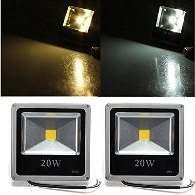 20W White/Warm White LED Flood Gray Black Shell 85-265V - Outdoor Lighting LED Flood Lights - 1X LED Grow Light