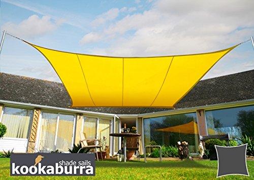 クッカバラパーティセイルシェード 黄色 紫外線96.5%カット 布帛 - 耐水性タイプ OL4016REC(長方形: 4 x 3m) B07C846GWP 15350 長方形: 4 x 3m  長方形: 4 x 3m