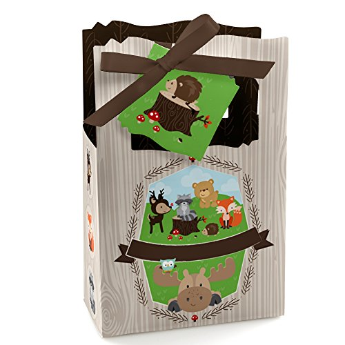 (Woodland Creatures - Baby Shower or Birthday Party Favor Boxes - Set of 12)