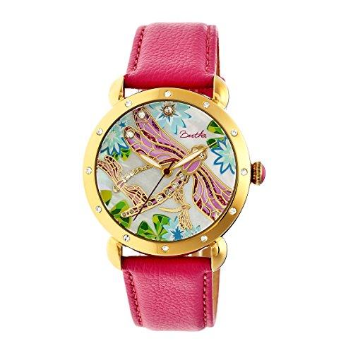 bertha-womens-jennifer-mop-strap-hot-pink-stainless-steel-watch