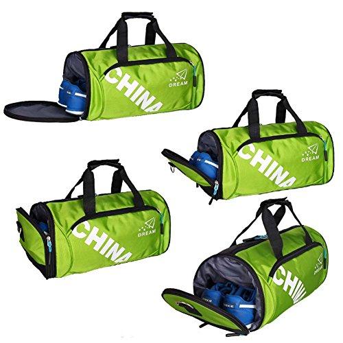 Unisex Klassische Sporttasche Gym Duffle Bag Reisegepäck Tasche mit Schuhfach, C