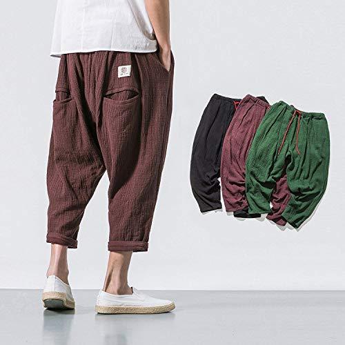 Donna Braun Pantaloni Moda Estivi Alla Vintage Da Uomo Casual 4wqxq8SUE