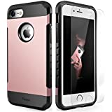 iPhone 7 Case Shockproof, Slim Anti-Scratch Protective Kit with [Tempered Glass Screen Protector] Heavy Duty Dual...