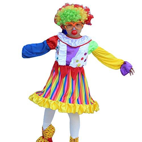 Kids Girls Boys Clown Halloween Costume Cosplay Circus