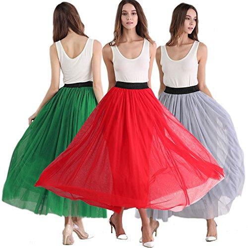 Babyonlinedress Falda larga de tul estilo simple y clásico para fiesta Verde