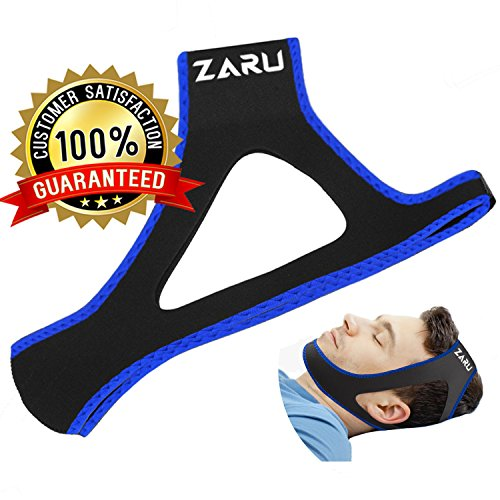 PREMIUM Anti Snore Chin Strap by ZARU [UPGRADED VERSION] - Advanced Snoring Aid Scientifically Designed To Stop Snoring Naturally and Give You The Best Sleep of Your Life! (Medium) - Sleep Apnea Breathing Machine