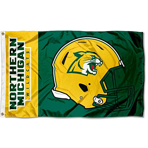 College Flags and Banners Co. Northern Michigan Wildcats Football Helmet Flag
