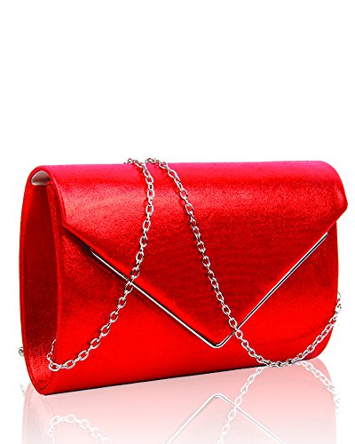 Clutch Bag Purse Bridal Hard Case Prom Party Ladies Wedding Evening 22 Design 5x14x6 Club Women's cm Shape Handbag For Satin Red Envelope Day Size 0ZvzP