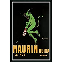 """Framed Art Print, 'Maurin Quina, 1920 ca' by Leonetto Cappiello: Outer Size 25 x 37"""""""