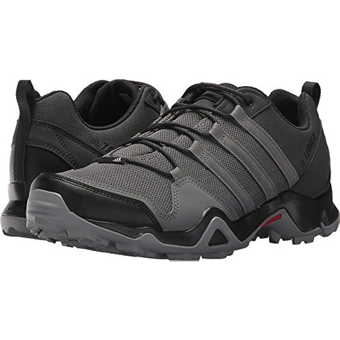 adidas Men's Terrex AX2R Carbon/Grey Four/Solar Slime 11