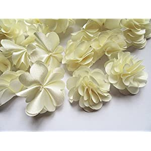 "YYCRAFT 20pcs 1 1/4"" Handmade Sewn Satin Flowers DIY Flower for Headbands Craft,Wedding Party Decoration 2"