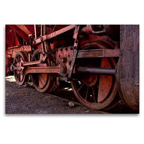 CALVENDO Toile Textile de qualité supérieure 120 cm x 80 cm - Entraînement Lok - Tableau sur châssis - Impression sur Toile véritable - romantisme ferroviaire Technology - Technologie