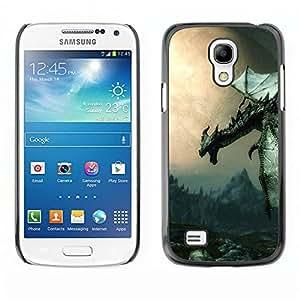 Caucho caso de Shell duro de la cubierta de accesorios de protección BY RAYDREAMMM - Samsung Galaxy S4 Mini i9190 - Antiguo Flying Dragon