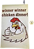 Giggle Golf Full Color Winner Winner Chicken Dinner Golf Towel & Poker Chip