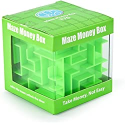 FIFATA Maze Puzzles Box adult toys banks For kids Teenagers (Green)