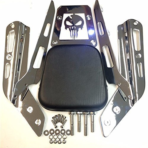 High Quality Skull Zombie Style Backrest Sissy Bar with Leather Pad For Honda VTX 1300C 1800C 1986-2012 Chrome See description for detail